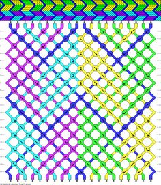 20 strings, 20 rows, 5 colors