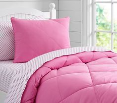 Cozy Quilt, Twin, Bright Pink