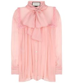 Pink silk shirt
