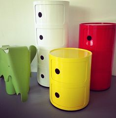 Add some colour to your kids bedrooms with Mocka's Post Boxes and Ernie the Elephant. Photo taken by Lime Tree Kids.