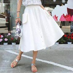 Buy 'REDOPIN – Elastic-Waist A-Line Skirt' with Free International Shipping at YesStyle.com. Browse and shop for thousands of Asian fashion items from South Korea and more!