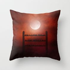 Symphony in Red Throw Pillow by Viviana González - $20.00