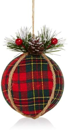 Read more about Homemade Christmas Decorations christmas esferas Rustic Christmas Ornaments, Tartan Christmas, Homemade Christmas Decorations, Diy Holiday Gifts, Christmas Bows, Christmas Wishes, Handmade Christmas, Holiday Crafts, Homemade Ornaments