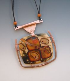 polymer clay and copper : Pam Sanders Art