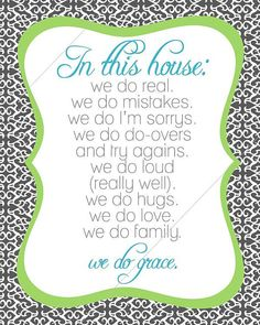 family creed we do grace // diy printable by tentinytoesdesigns, $10.00