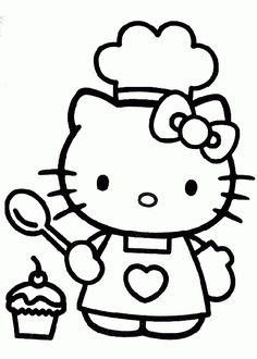 Printable Cool Hello Kitty Coloring Pages For Preschoolers