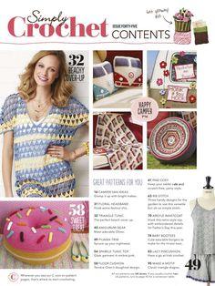 Simply Crochet №45 2016 - 轻描淡写 - 轻描淡写 Crochet Chart, Knit Or Crochet, Crochet Stitches, Crochet Baby, Free Crochet, Crochet Patterns, Crochet Magazine, Knitting Magazine, Knitting Books