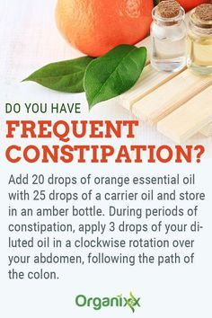 Essential Oils for Constipation: Add 20 drops of orange essential oil with 25 drops of a carrier oil Essential Oils For Constipation, Oil For Constipation, Constipation Remedies, Top Essential Oils, Orange Essential Oil, Essential Oil Blends, Young Living Oils, Young Living Essential Oils, Amber Bottles