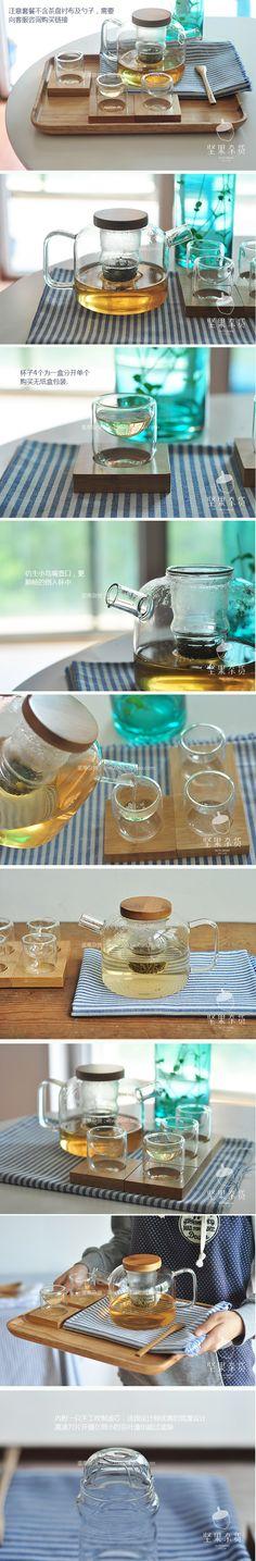 灯工耐高温玻璃花茶茶具套装 茶艺品茗杯 功夫茶壶茶具 可加热-淘宝网