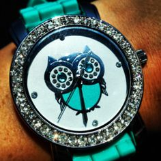 Origami Owl teal owl watch from Charming Charlie's!