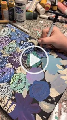 Katie( has created a short video on TikTok with music original sound. so inspired wow⭐️ Acrylic Painting Flowers, Acrylic Painting Lessons, Diy Painting, Beginner Painting, Painting Abstract, Art Floral, Flower Canvas, Flower Art, Gouche Painting