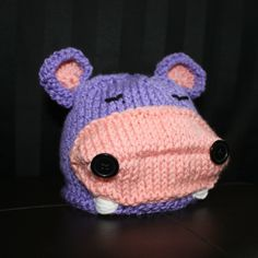 This is Lola the Hippo Baby Knit Hat By May Phang, The Createry Shop