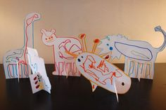 Pop-up Paper Zoo - TinkerLab --- Creative Experiments for Kids