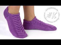 Crochet Sandals, Crochet Boots, Knitted Slippers, Slipper Socks, Tunisian Crochet, Knit Crochet, Knitting Socks, Baby Knitting, Knitting Patterns