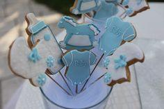 Dolci biscotti per il battesimo di un bimbo