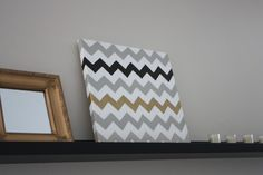 A Simple Kind of Life: How To: Chevron Painted Canvas