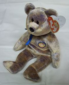 "GREAT GIFT Ty Store! MWMTs TY Beanie Babies /""HERS/"" Wedding Bride Teddy Bear"
