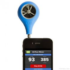 What an awesome thing! Airflow Balancing Meter Anemometer for Smart Device - ABM-100