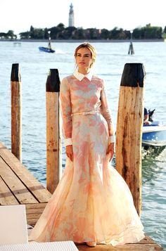 Kasia Smutniak in Valentino at the 2012 Venice Film Festival Photo Call