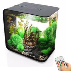 biOrb Flow 30L/8G All-in-One Acrylic Aquarium Kit with Multicolor Light - Black (46880)