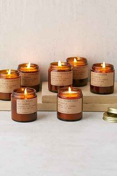 PF Candle Co. Amber Jar Soy Candle - Urban Outfitters