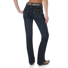 Wrangler Women's Cash Vented Boot Cut Ultimate Riding Jeans