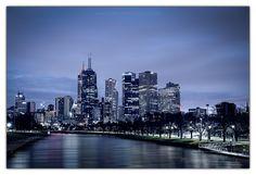 Gotham City - Melbourne, Australia by Maciej Nadstazik #melbourne #australia #nightscape