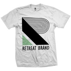 New for design 2013 is this oversized two colour Retreat print hand drawn typeface design. £20