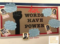 Celebrate the inspiring African-American women who influenced American history with this bulletin board featuring Shirley Chisolm, Rosa Parks, Maya Angelou, Ruby Bridges, and Corette Scott King. From the teachers of Success Academy Charter Schools. History Bulletin Boards, College Bulletin Boards, Diversity Bulletin Board, Multicultural Bulletin Board, African American History, American Women, Early American, British History, Native American