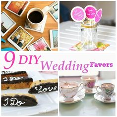 9 DIY Wedding Favors