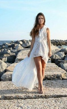 Gorgeous hi-lo lace dress