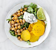Beets & Chickpeas with Jalapeno Yogurt / Love and Lemons