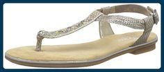 Rieker 64270 Women Flip Flop, Damen Zehentrenner, Beige (fango-silver/beige/64), 37 EU - Zehentrenner für frauen (*Partner-Link)