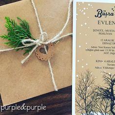 Kış Temalı Düğün Davetiyesi ve Zarfı   Kış Düğünü Davetiyesi   Winter themed wedding invitations   Düğün Davetiyeleri