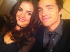 Ian Harding and Lucy Hale (aka Ezra Fitz & Aria Montgomery) off set of PLL Pretty Little Liars, Ezra And Aria, Ezra Fitz, Ian Harding, Cutest Couple Ever, Lucy Hale, Perfect Couple, Show Photos, Best Shows Ever