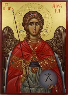 High quality hand-painted Orthodox icon of St Archangel Michael (halo relief). BlessedMart offers Religious icons in old Byzantine, Greek, Russian and Catholic style. Raphael Angel, Archangel Raphael, Byzantine Icons, Byzantine Art, Religious Icons, Religious Art, Paint Icon, Russian Icons, Albrecht Durer