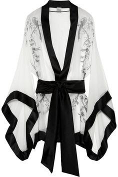 Carine Gilson | Paradise printed silk-mousseline kimono | NET-A-PORTER.COM
