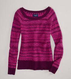 fair isle sweater/great colors!