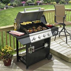 Grill Master 4 Burner 48 000 Btu Liquid Propane Gas With Side 720 0697