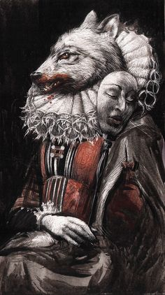 Art by Santiago Caruso… IT APPEARS TO ME, TO ENCAPSULATE THE THEME OF ~ BEAUTY AND THE BEAST