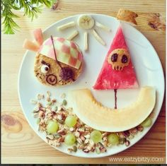 Pirate and Ship Snack Cute Snacks, Cute Food, Good Food, Yummy Food, Healthy Food, Pirate Food, Baby Food Recipes, Cooking Recipes, Cooking Food