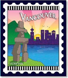 Zebra Patterns Mini City Stamp Panel Vancouver