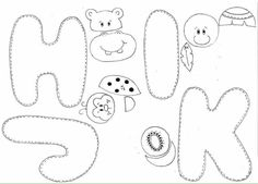 Moldes letras 3