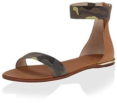Yosi Samra Womens Cambelle Sandal with Ankle Strap LimetteSienna 6 M US ** Find out more about the great product at the image link.