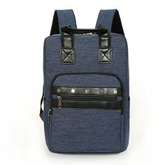 Unisex Vintage Casual Rivets decorated backpack Travel Bags (navy blue) >>> Want additional info? Click on the image.