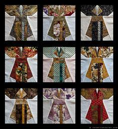 kimono quilt blocks naomi vandoren