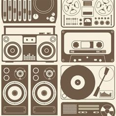 Cool wrapping paper or to wrap boxes holding your golden oldie records or casette tapes