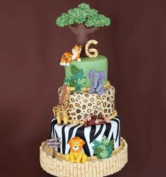Birthday Cakes for Boys: Jungle Cake via Sweet Dreams | Mum's Grapevine
