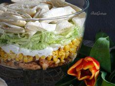 Sałatka z kurczakiem i sosem tzatziki Tzatziki, Salad Recipes, Cabbage, Grilling, Grains, Lunch Box, Food And Drink, Rice, Vegetables