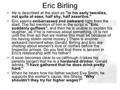 004 Eric Birling Point//Evidence//Analysis Source BBC